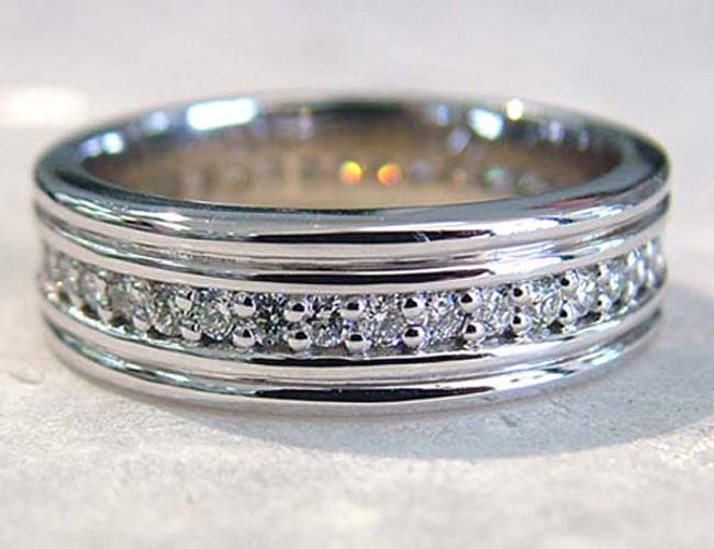 diamond mens band