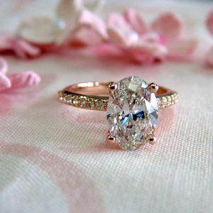 Lab grown diamond engagement ring Columbus Ohio