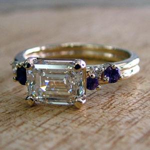 Custom Lab Grown Emerald Cut Diamond Ring Columbus