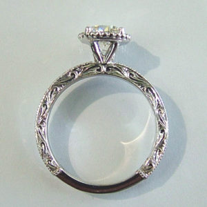 white gold minimalist engagement ring with thin band