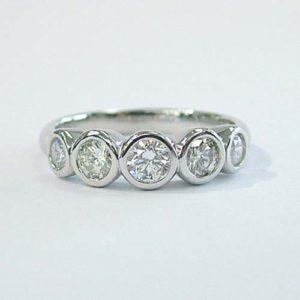 Bezel set diamond wedding band columbus ohio