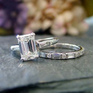 close up of lab grown diamond engagment rings