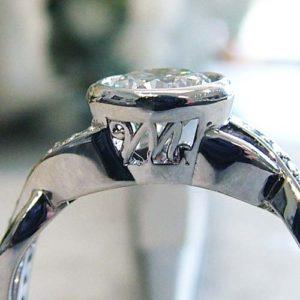 initial symbol engagement ring