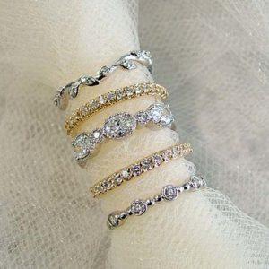 wedding band options for minimalist engagement ring