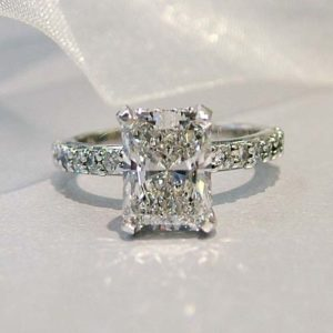 radiant cut lab grown diamond engagement ring columbus ohio