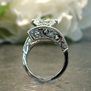 hand engraved engagement ring dublin ohio