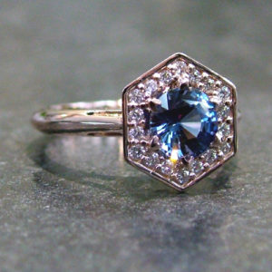 Blue Sapphire Engagement Ring Dublin