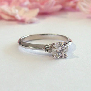 thin engagement ring