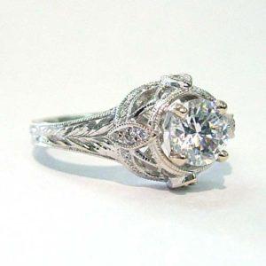 Custom Vintage Style Wedding Ring Dublin Ohio
