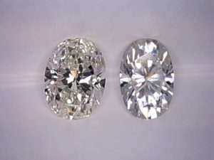Moissanite diamond simulate