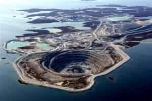 Mined diamond site